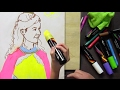 Have Fun with Lily: Draw portrait of a Queen with Chalkola Markers