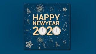 Happy New Year Poster Design New Year Banner Design in illustrator