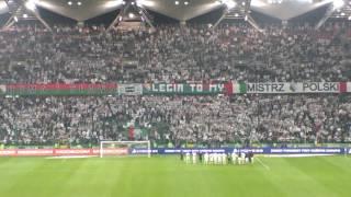 LEGIA- Lech  Poznań 2:1 Żyleta i piłkarze po meczu śpiewają Warszawa Warszawa