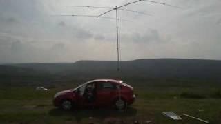HAM RADIO YP-3 ANTENNA SETUP 1800FT ASL