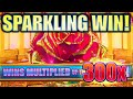 ★NEW SLOT! A SPARKLING WIN SESSION!★ SPARKLING ROSES MULTIPLIER BLAST Slot Machine Bonus (KONAMI)