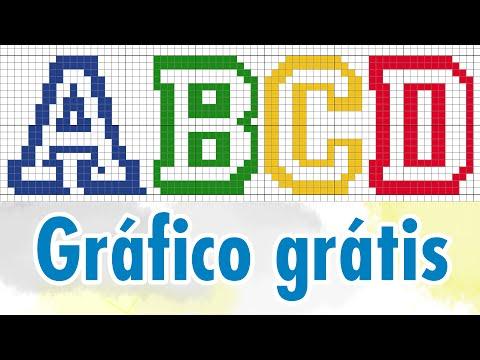 Alfabeto INFANTIL - Gráfico Grátis para ponto cruz