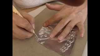 Manualidades y artesanias en metal: Repujado en aluminio paso a paso.  Alternativa de trabajo.