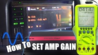 How To Set Amplifier Gains & Get MAXIMUM Output w/ NO Clipping | Tuning BASS AMP w/ Oscilloscope