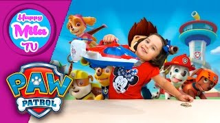 Paw Patrol Air Patroller Air Rescue Spinmaster smart toy unboxing funny review | HappyMilaTV #181