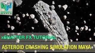Asteroid Field Crashing Simulation Maya - xShatter Fx