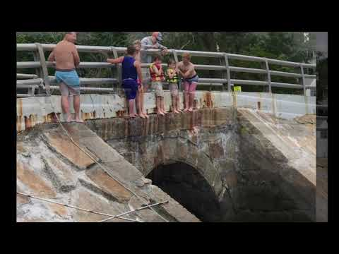 Bluefish River Bridge Duxbury MA Bridge Jump Kids Eli And Briggs