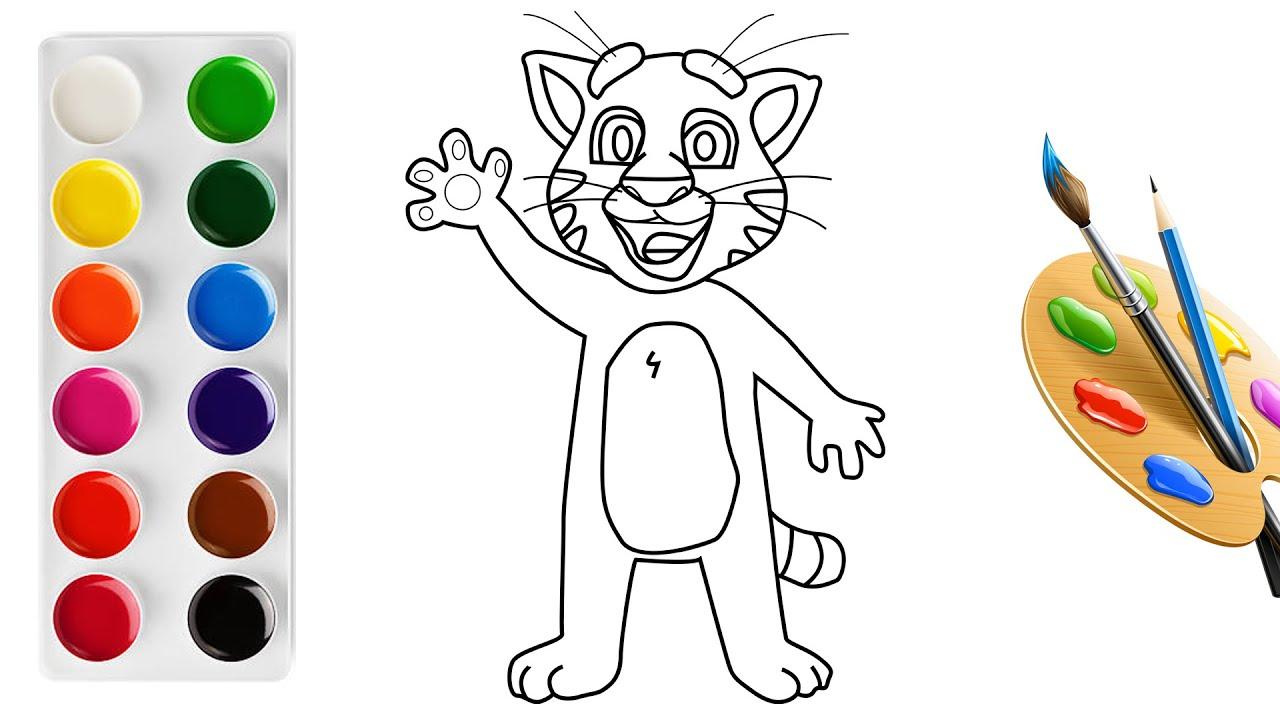 Instructions for drawing Talking Tom – Vẽ chú Mèo Tôm