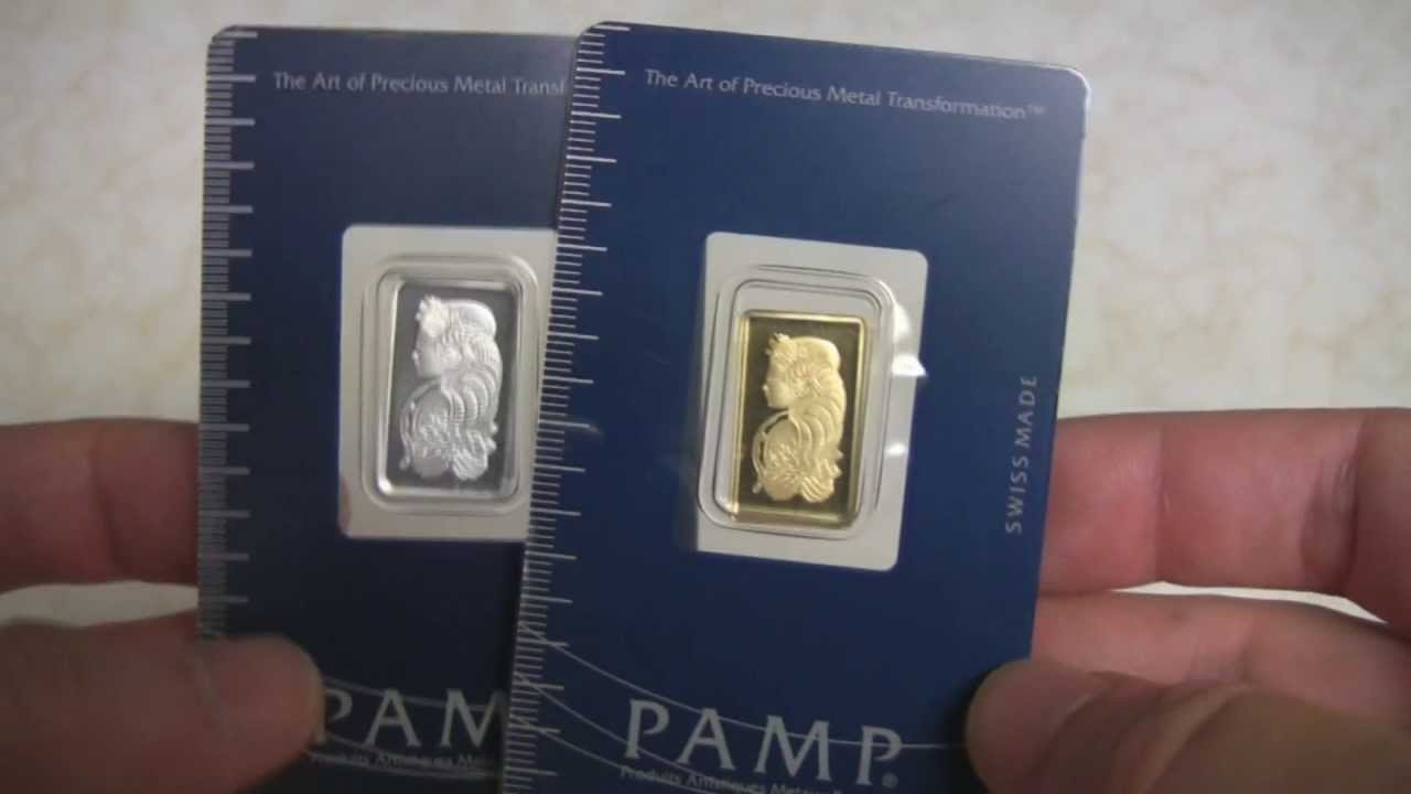 Pamp Silver And Gold Bullion Bar Size Comparison Youtube