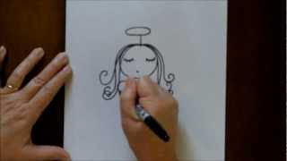 How To Draw An Angel Step-By-Step Easy Drawing Tutorial For Beginners
