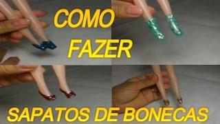 COMO FAZER SAPATOS DE BONECAS