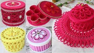 5 Beautiful jewelry box with woolen & newspaper | Diy jewelry box