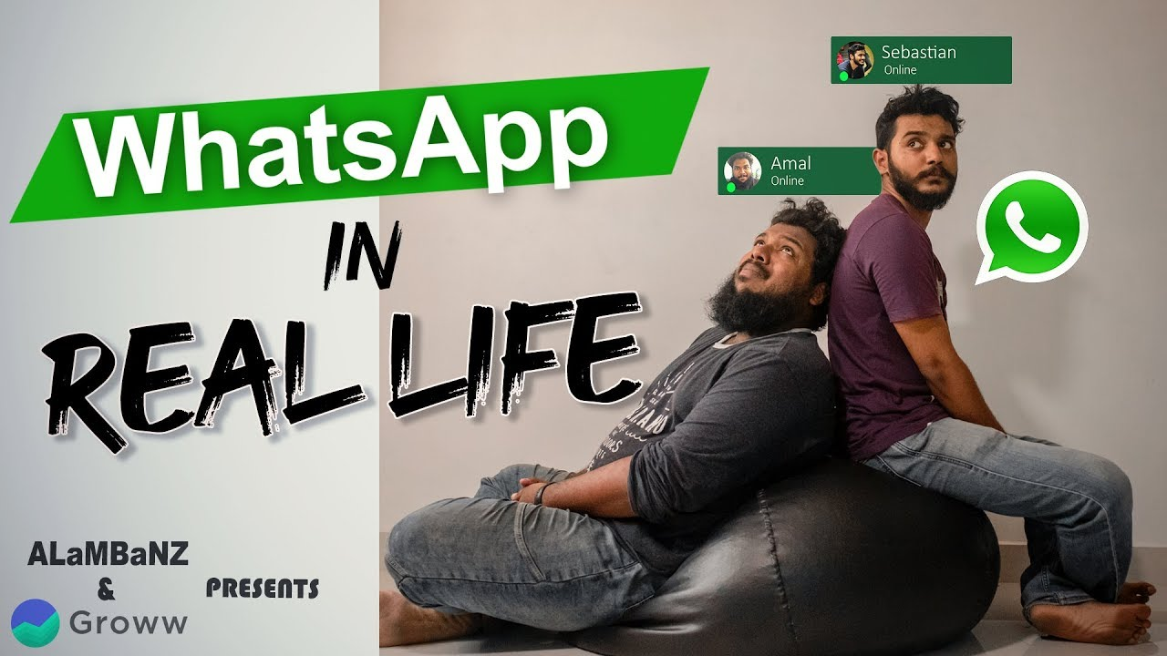 Whatsapp in Real Life | Comedy | ALaMBaNZ