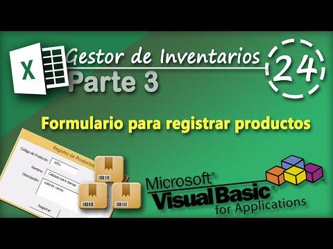 Gestor de Inventarios Parte 3 | Formulario para Registrar Productos | VBA Excel 2013 #24