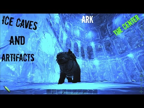 The Center Map Ice Caves - North and South Locations - ARK: Survival Evolved