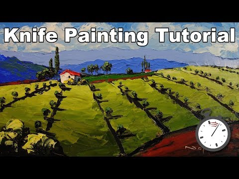 How to Paint an Impasto Landscape with a Painting Knife