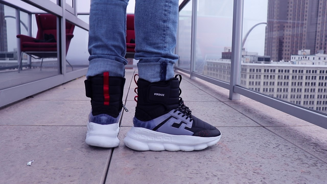 Versace Chain Reactions ON FEET!! - YouTube