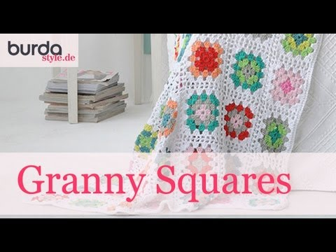 Burda Style Granny Square Häkeln Youtube
