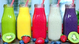 5 AMAZING HEALTHY SMOOTHIES - Refreshing Smoothie Recipes