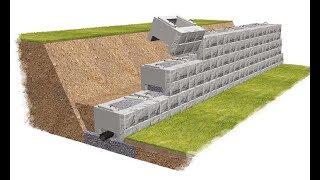 видео Строительство подпорных стенок на дачном или садовом участке