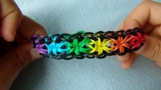 """Как сделать браслет из резинок. Стиль """"звездочки"""" starburst"""