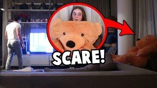 Hiding inside a bear PRANK FAIL