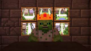 Zombie vs Villager Life 10   Alien Being Minecraft Animation