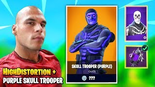 HighDistortion Equips PURPLE SKULL TROOPER Skin And Then THIS HAPPENS | Fortnite Daily Funny Moments