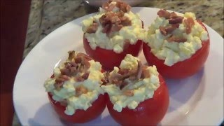 Low Carb Bacon Egg Stuffed Tomato