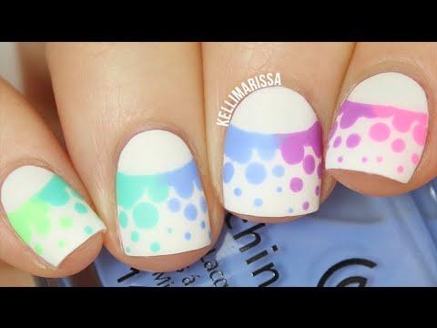 Funky Rainbow Dotticure Nail Art DIY || KELLI MARISSA