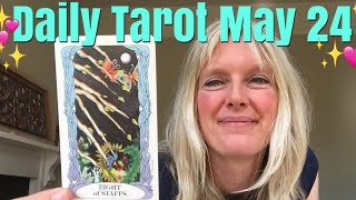Daily Tarot May 24, 2018 ~ A Message Coming In
