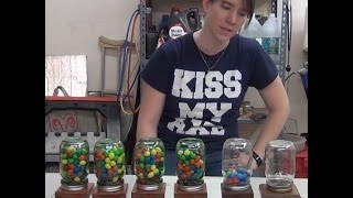 Easy To Build Wooden Mason Jar Candy Machine