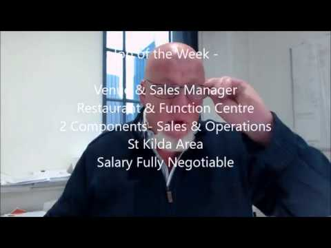 Venue & Sales Manager-  Restaurant & Function Centre -2 Components- Sales & Operations