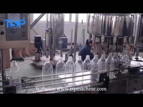 2017 New Manual Small Cost PET Bottled Purified Mineral Water Filling Plant 35 BPM