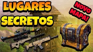 SECRET PLACES WITH CHESTS ON THE NEW MAP-FORTNITE