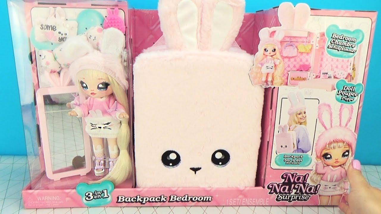Домик - Рюкзак с куклой NA! NA! NA! SURPRISE Игровой набор для девочек Backpack Bedroom
