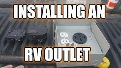 Installing an RV Outlet