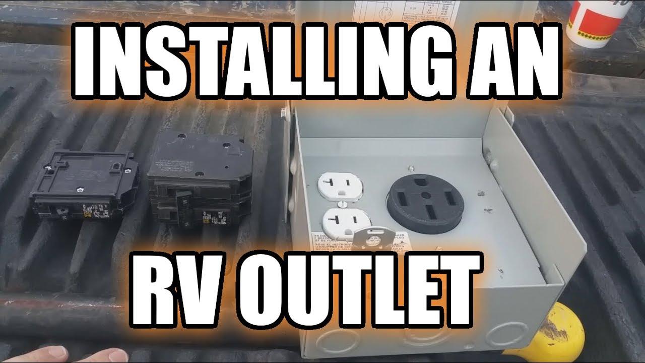 Install 50 amp rv hookup