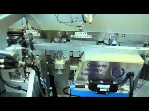 California Vibratory Feeder Bowl (Calvibes) Feeding Pin Into Agile Assembly Base