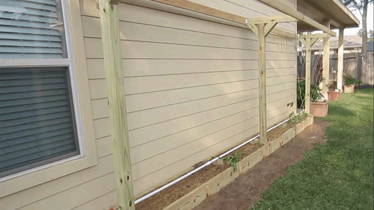 Raised Garden Bed Against House Siding