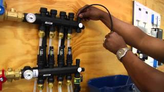 How to Properly Purge an Uponor Engineered Polymer (EP) Manifold