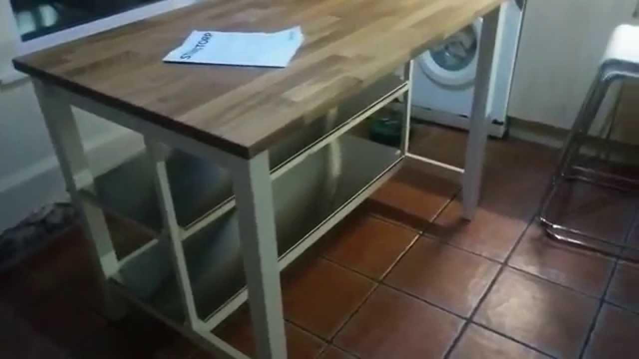 ikea stenstorp kitchen island hack - youtube