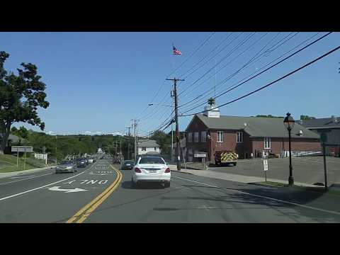 Driving from Stony Brook to Port Jefferson in Suffolk,New York