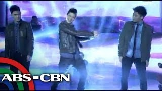 Vhong's sons Bruno, Yce performs in Showtime
