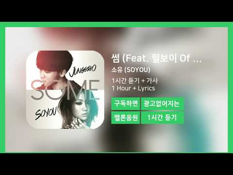 [한시간듣기] 썸 (Feat. 릴보이 Of 긱스)  - 소유 (SOYOU) | 1시간 연속 듣기