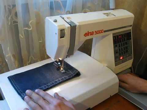 Elna 40 Nähmaschine Sewing Machine Швейная машина Test YouTube Amazing How To Thread A Elna Sewing Machine