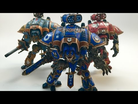 Space Marine Themed Imperial Knights - Ultramarines, Blood Angels, & Space Wolves