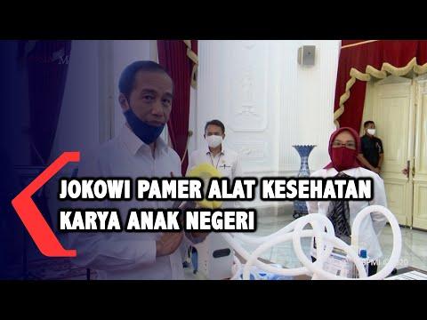 Jokowi Pamer Alat Kesehatan Karya Anak Negeri