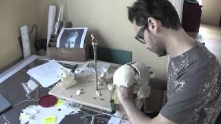 "Exploded Skull 24 K Gold. Antonio Del Prete ""Murcian Metalmorphosis 2013 """