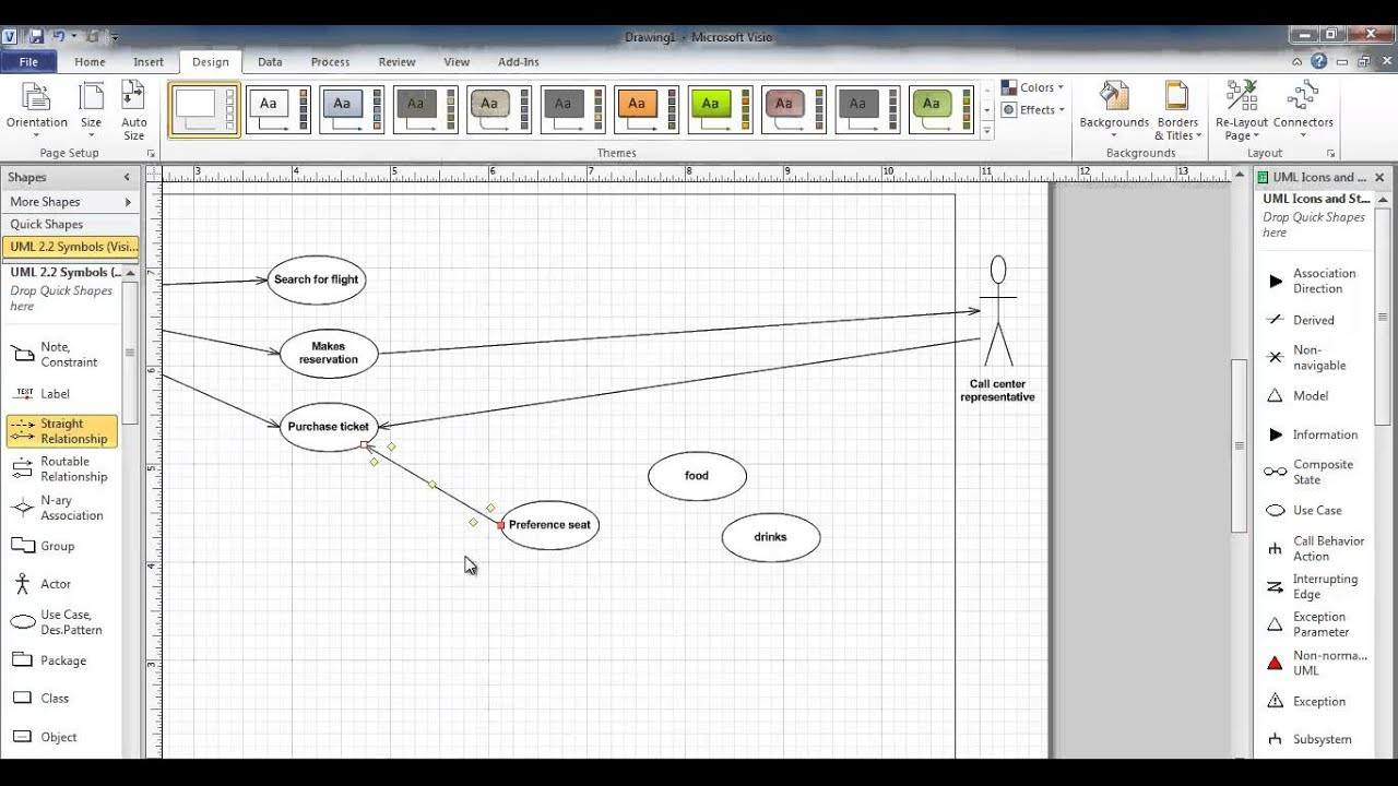 Use case diagram using visio 2010 - YouTube
